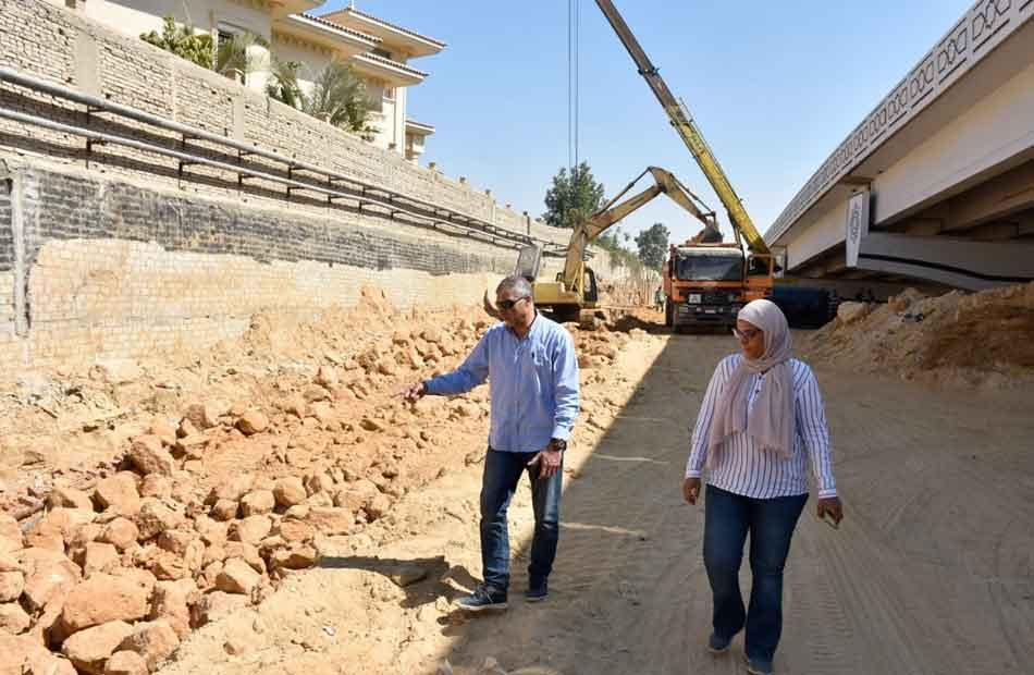 رئيس جهاز القاهرة الجديدة يتابع استعدادات موسم الشتاء وأعمال التطوير بالتجمع الأول  صور