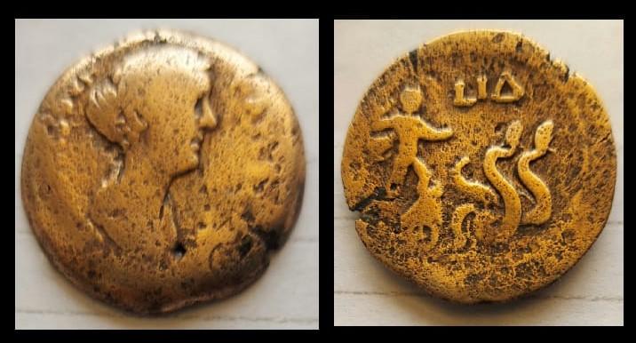 عملة برونزية ترجع إلى القرن الثاني الميلادي قطعة شهر سبتمبر بمتحف آثار مطروح