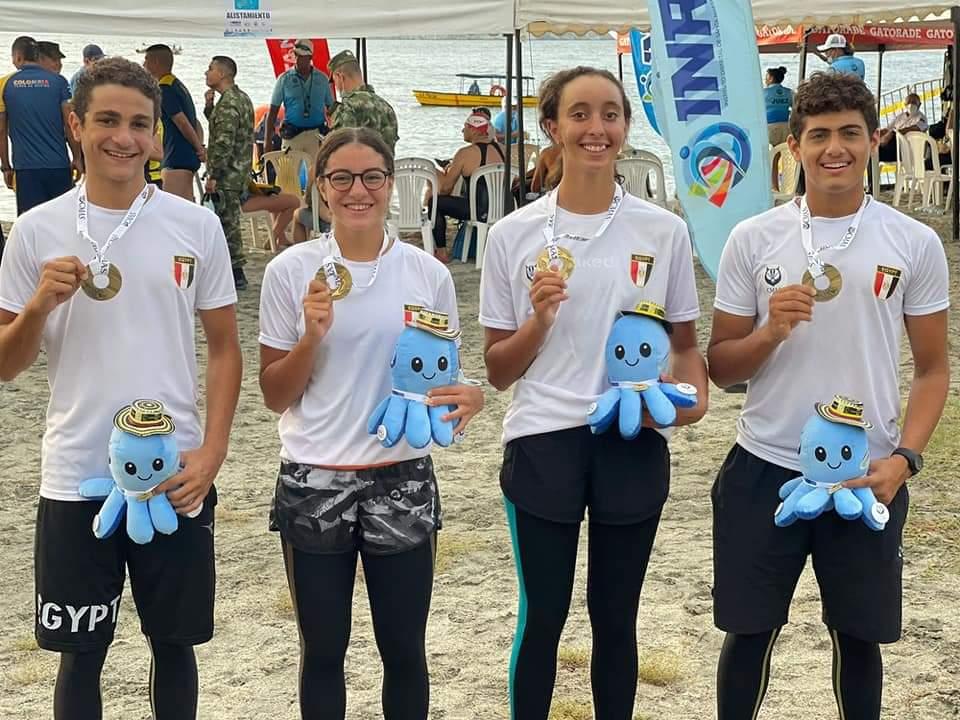 منتخب السباحة بالزعانف يحقق ذهبيتين وفضيتين في بطولة العالم بكولومبيا