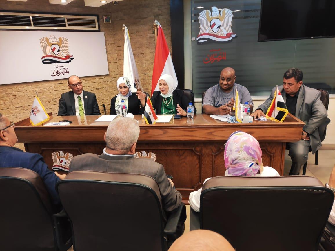 حزب  المصريين  يطلق مبادرة ;معًا نُنمي عمالنا; لخدمة المجتمع العمالي| صور