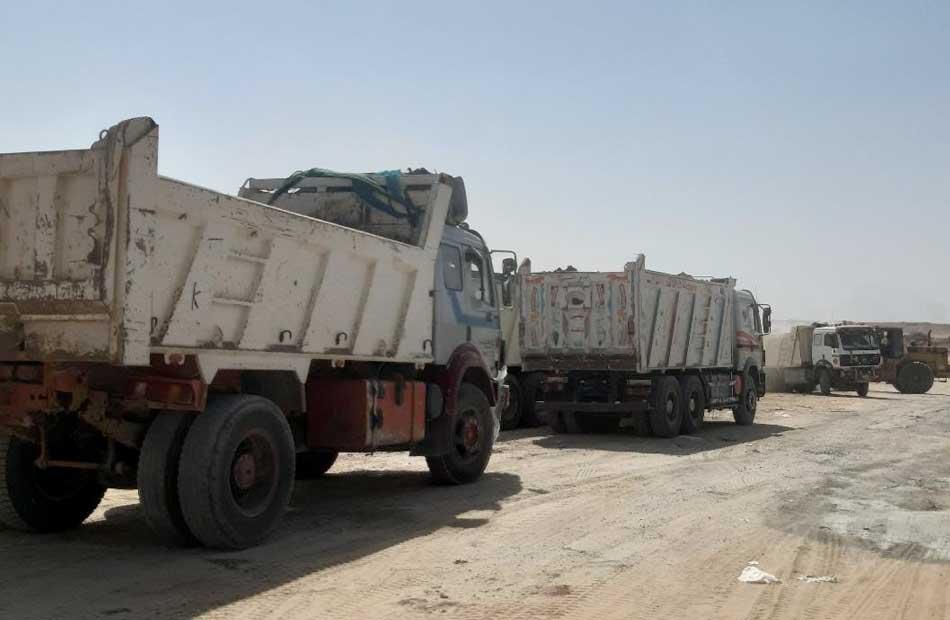 حملة مفاجئة للتفتيش على تصاريح مُعدات النقل الثقيل