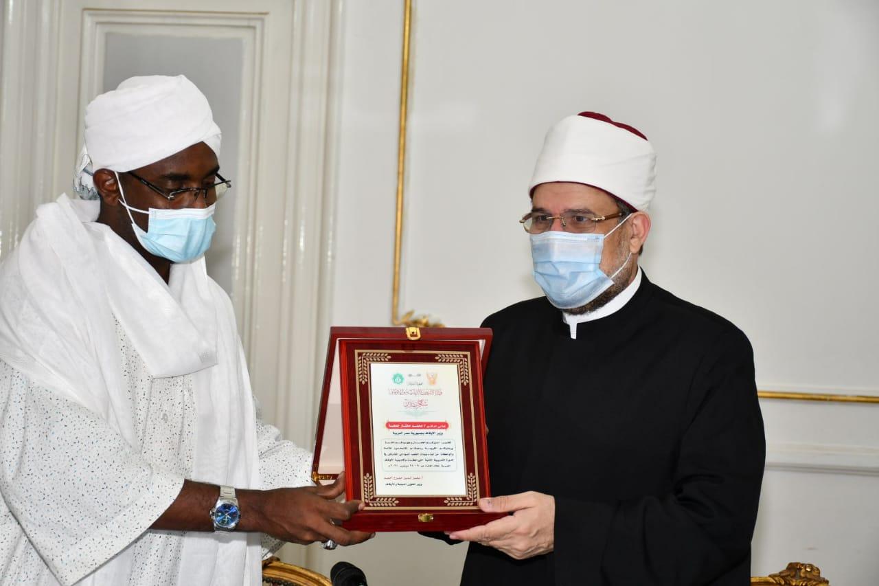 اجتماع وزير الأوقاف مع نظيره السوداني