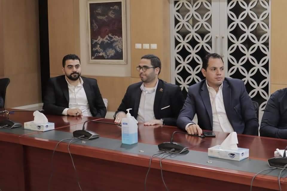 زيارة أعضاء مجلس الشيوخ عن تنسيقية شباب الأحزاب لجامعة الجلالة