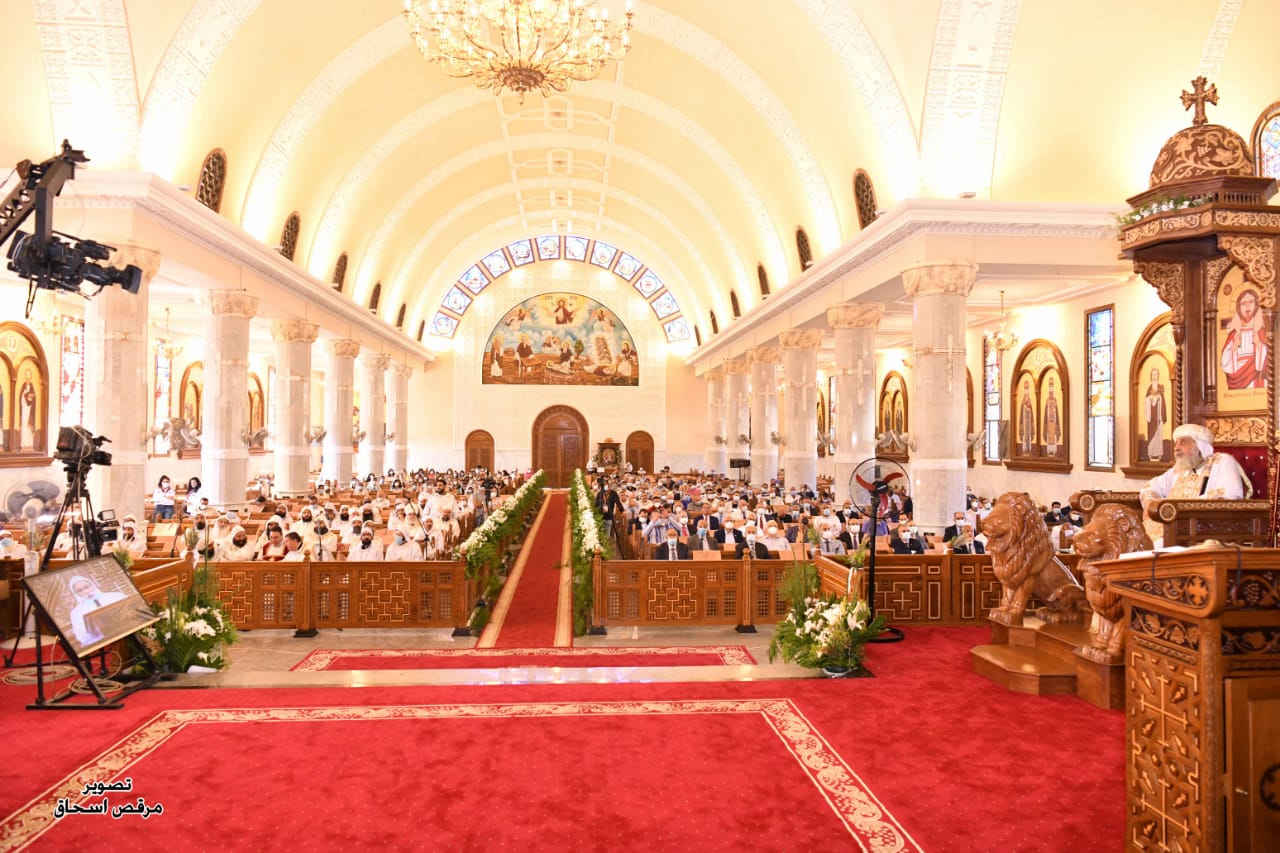 البابا تواضروس يدشن الكاتدرائية الجديدة بدير مارجرجس بالخطاطبة