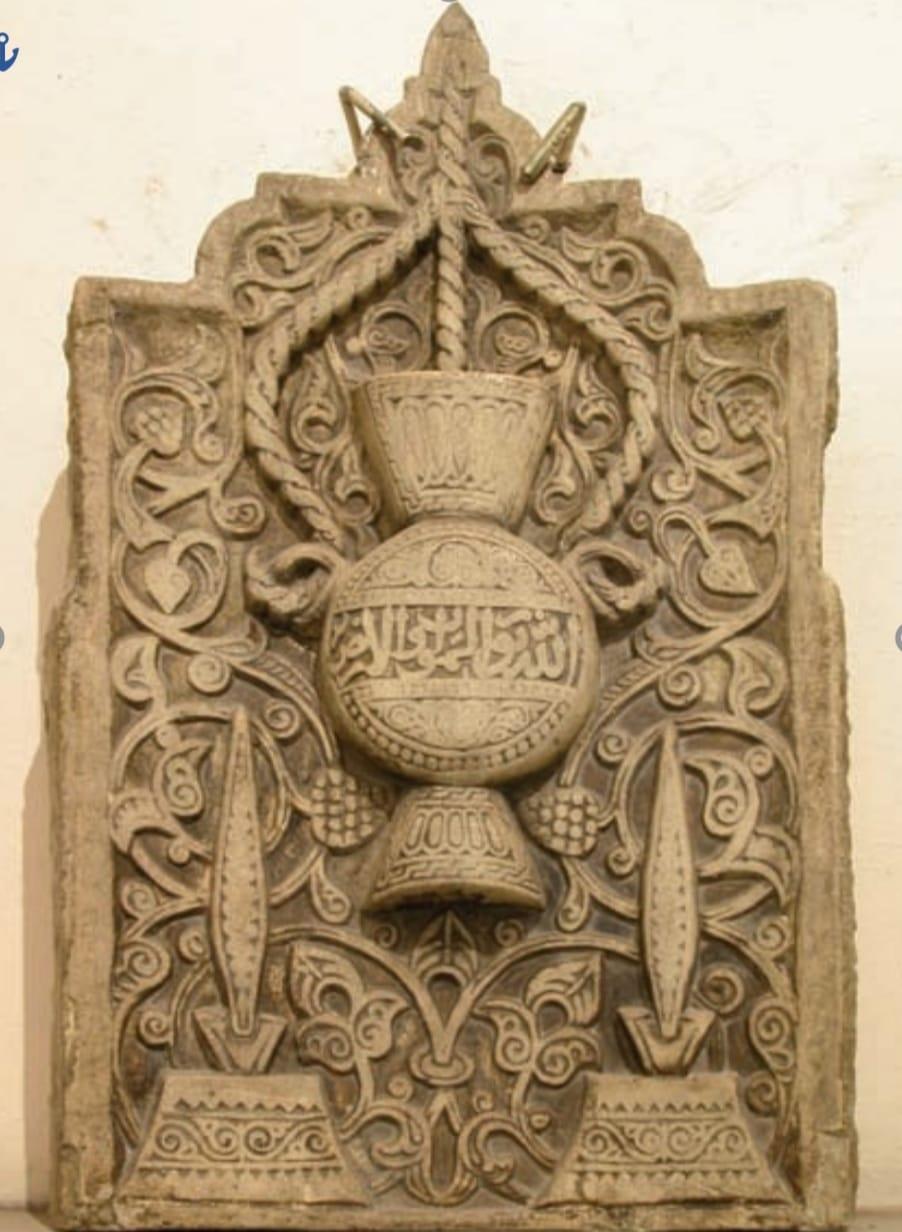 لوحة من الرخام من العصر المملوكي