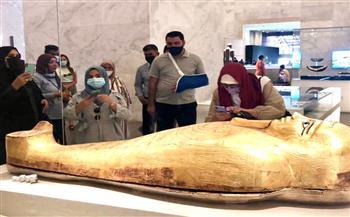 وفود-رفيعة-المستوى-من-الأردن-والجابون-والمجر-تزور-المتحف-القومي-للحضارة-المصرية-|-صور