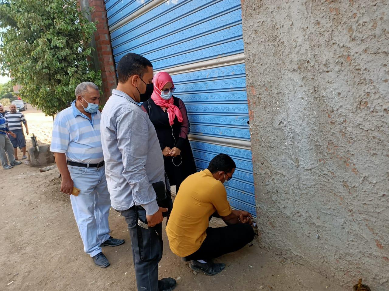 تحرير  محضر مخالفات وتطهير  منشأة في الغربية  صور