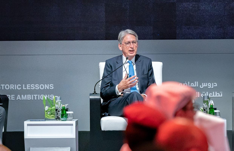 سلطان بن أحمد القاسمي يشهد الجلسة الافتتاحية والحوار الملهم الأول للمنتدى الدولي للاتصال الحكومي|صور