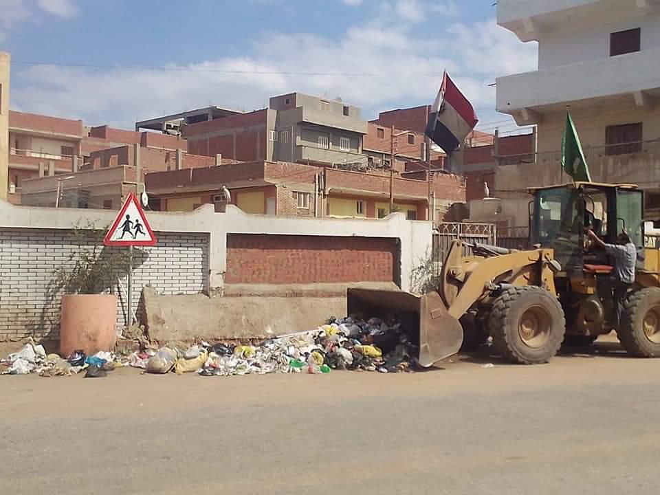 رفع  طن قمامة من قرى شبين الكوم في المنوفية| صور
