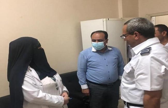 وكيل وزارة الصحة في بورسعيد يتفقد سير العمل بمركز تلقي لقاح كورونا  صور