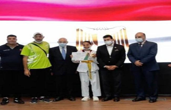 وزير الشباب يكرم أبطال المشروع القومي للموهبة والبطل الأوليمبي من كفر الشيخ| صور
