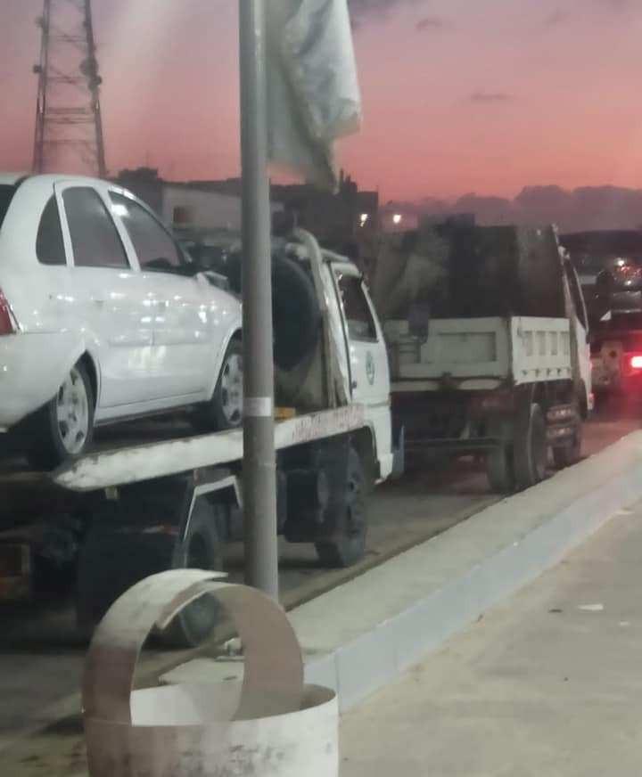 تصادم 5 سيارات بالطريق الصحراوي بالإسكندرية   صور