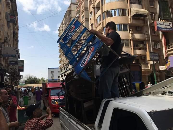 حملة لإزالة التعديات والإشغالات بغرب المنصورة  صور