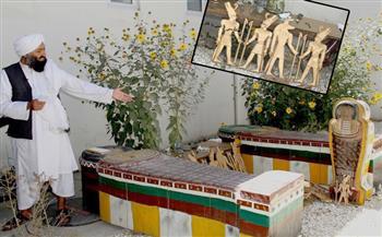 ما-هي-حقيقة-العثور-على--تمثالًا-و-قطعة-تاريخية-في-أفغانستان؟- صور