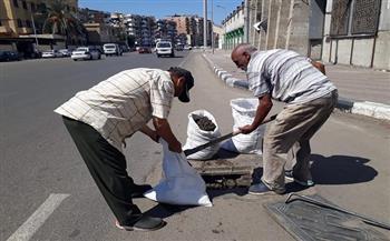 أخبار-القاهرة-حملة-لتطهير-ونظافة-بالوعات-الأمطار-في-حي-المطرية
