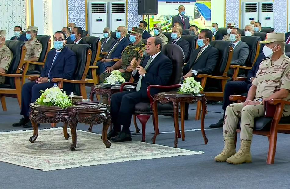 الرئيس السيسي الإرهاب في سيناء يهدف إلى إعاقة عملية البناء والتنمية