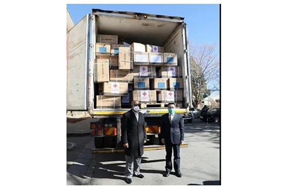 أغسطس 2021/ وصل شحنة من لقاحات كوفيد-19 التي قدمتها الصين كمساعدة إلى ماسيرو عاصمة ليسوتو