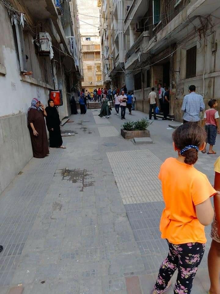 سقوط سقف شقة وسط الإسكندرية
