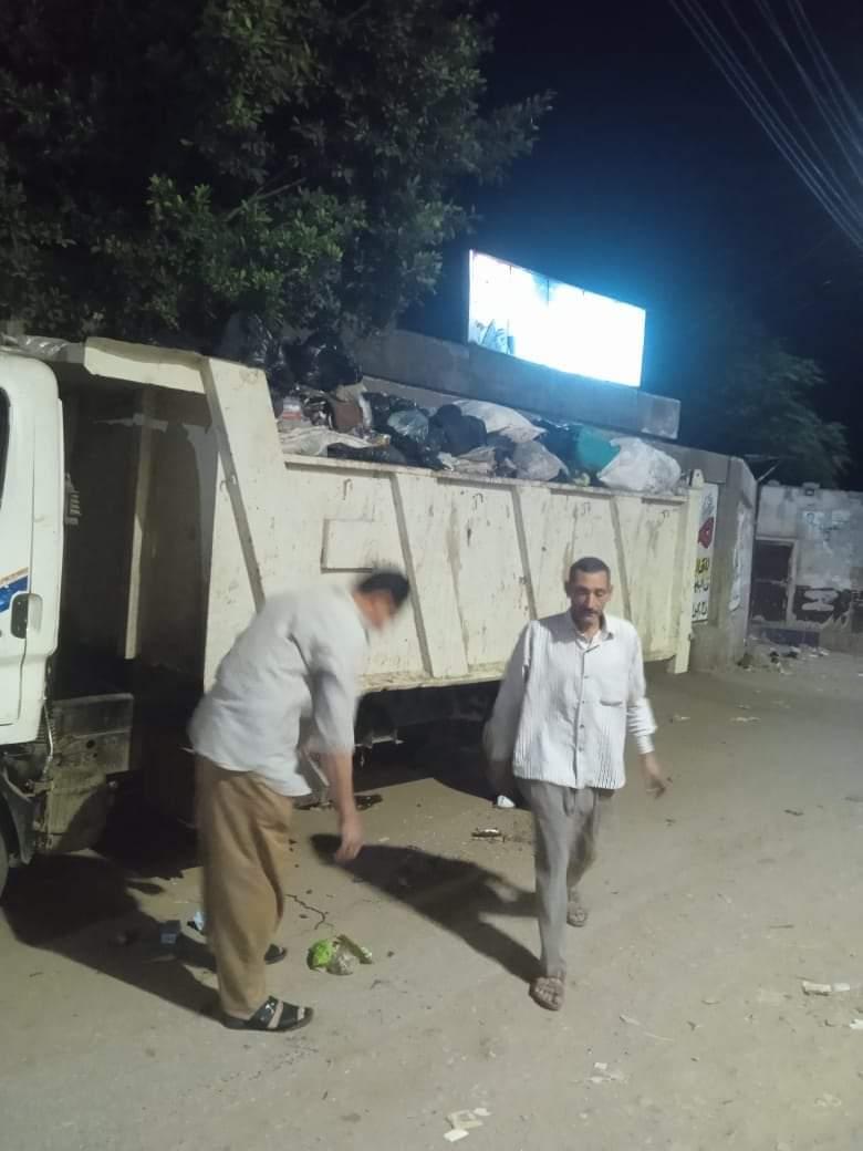 حملات نظافة مسائية بقرى مركز الباجور بالمنوفية