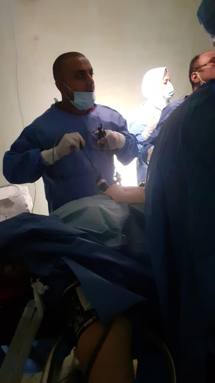 تشغيل أحدث جهاز منظار جراحي فى مستشفى كفرالزيات العام