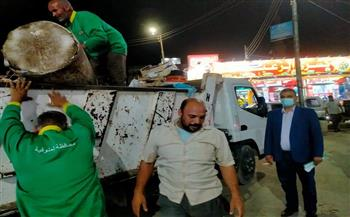 حملة-نظافة-مسائية-مكثفة-لرفع-تجمعات-القمامة-من-مدينة-قويسنا-بالمنوفية--|صور-