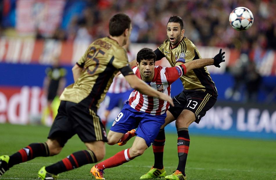 ميلان يستضيف أتلتيكو مدريد في دوري أبطال أوروبا الليلة