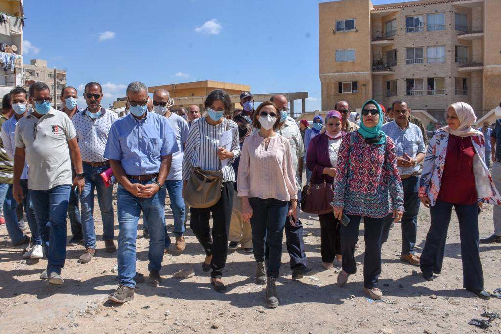 نائب محافظ الإسكندرية تتفقد مشروع إنشاء السوق الحضارية بالعامرية | صور