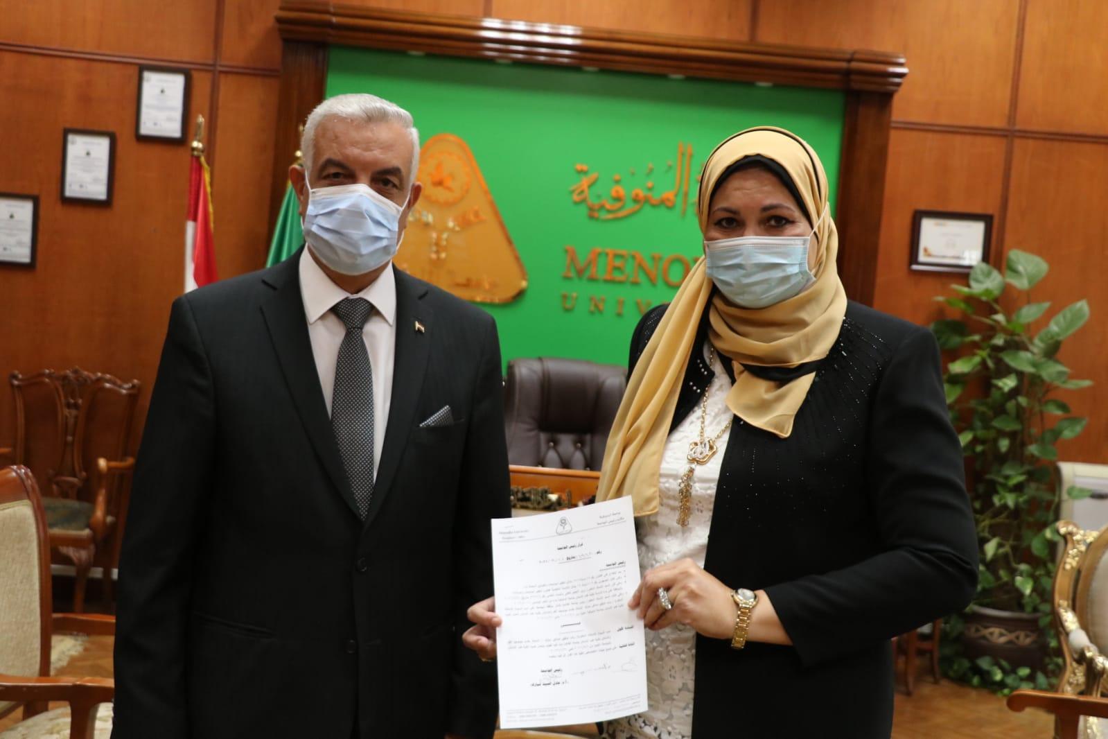 الدكتورة رباب مبارك عميدا لطب أسنان جامعة المنوفية | صور