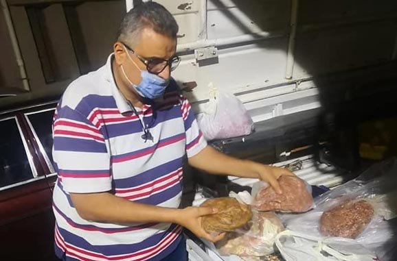 ضبط كمية من اللحم المفروم غير صالح للاستهلاك في المنصورة
