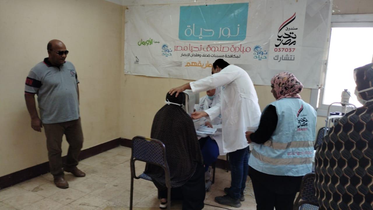 القافلة الـ31 لمبادرة نور حياة بقرية ميت شهالة بالشهداء