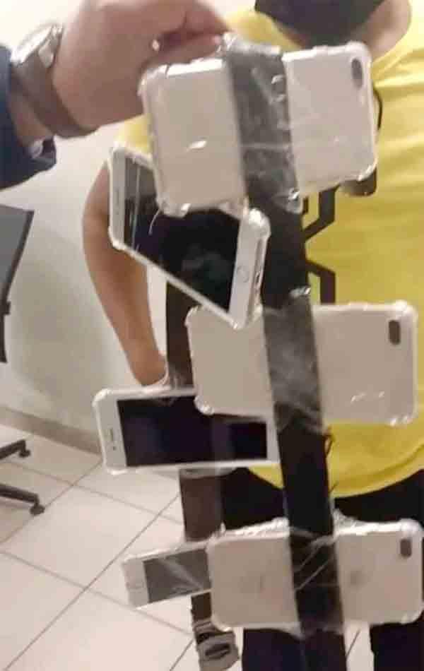 محاولة تهريب عدد من الهواتف المحمولة