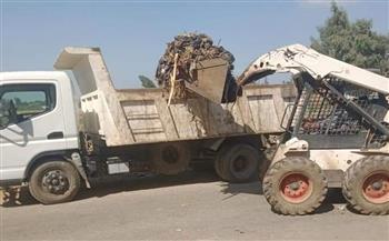 المنوفية-اليوم-رفع-تراكمات-القمامة-والأتربة-وتسوية-ومسح-الطرق-بمركز-الشهداء