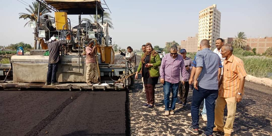 رصف طريق طهطا - طما بطول 21 كم بتكلفة 32 مليون جنيه