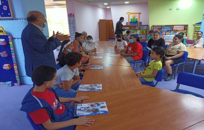 قافلة مجلة  نور للأطفال  تنتشر بمعاهد ومدارس محافظة مطروح | صور