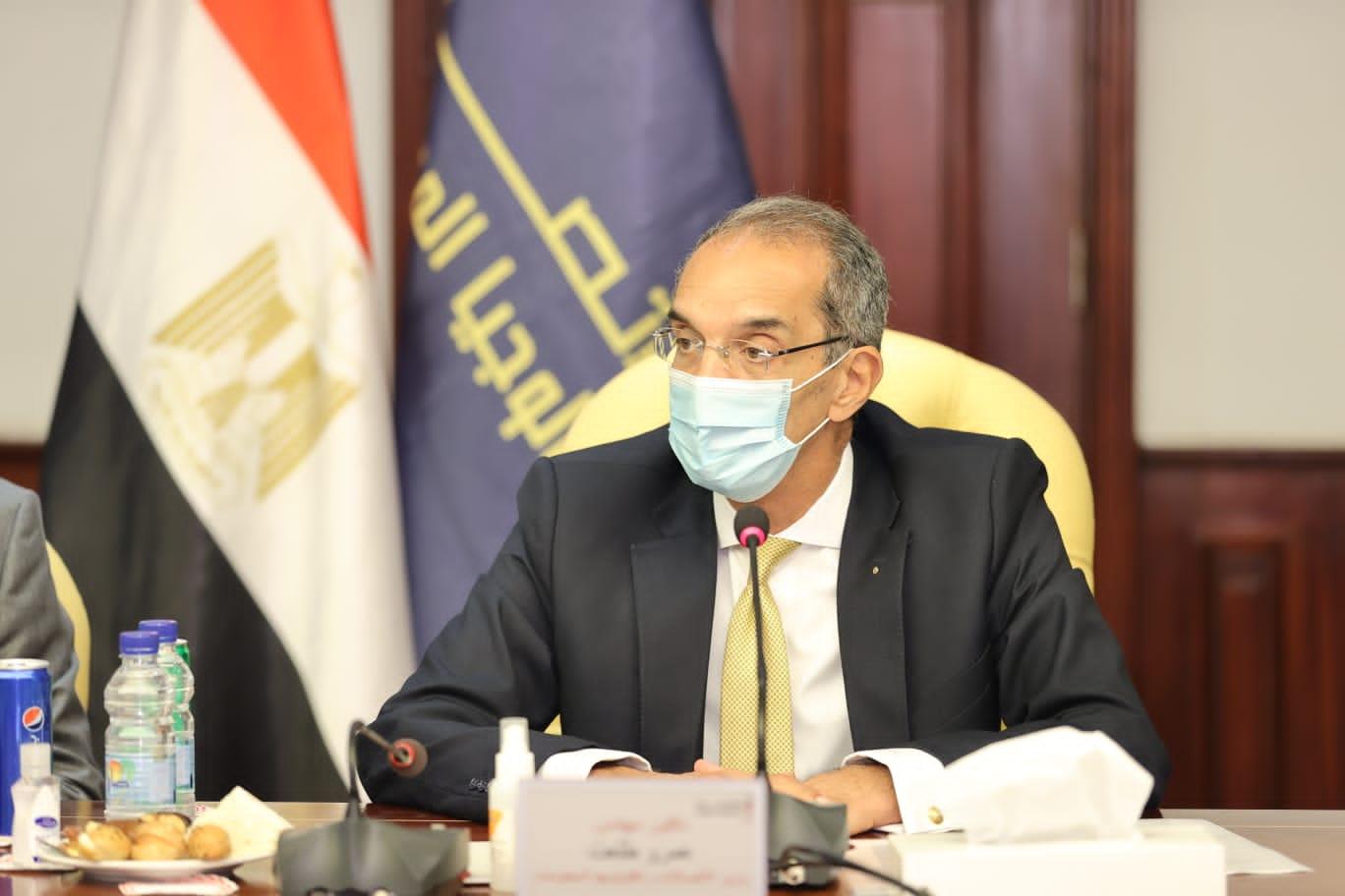 وزير الاتصالات يستعرض موقف  مستقبلنا رقمي  وتنفيذ  مدينة المعرفة  بالعاصمة الإدارية