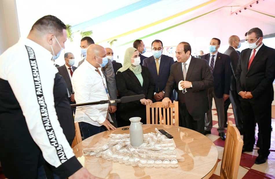 جولة الرئيس السيسي التفقدية في العاصمة الإدارية الجديدة