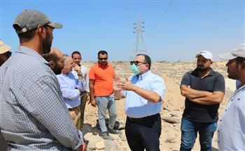 نائب-محافظ-شمال-سيناء-يتفقد-الأعمال-في-محاور-العريش-الجديدة- -صور