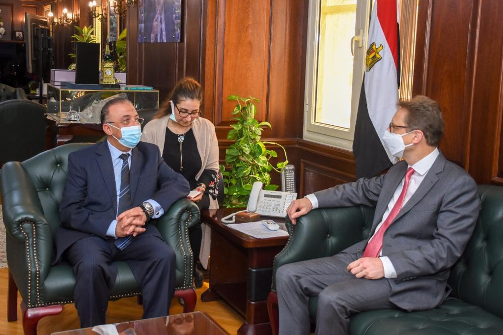 محافظ الإسكندرية يبحث مع سفير ألمانيا سبل تعزيز التعاون   صور