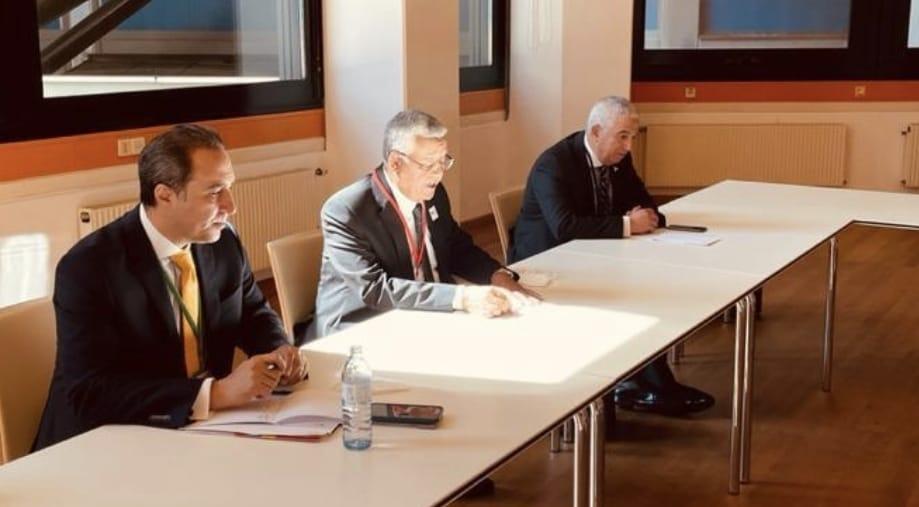 المستشار حنفي جبالي رئيس مجلس النواب خلال لقاءه أنيتا ديميتريو  رئيسة مجلس النواب القبرصي