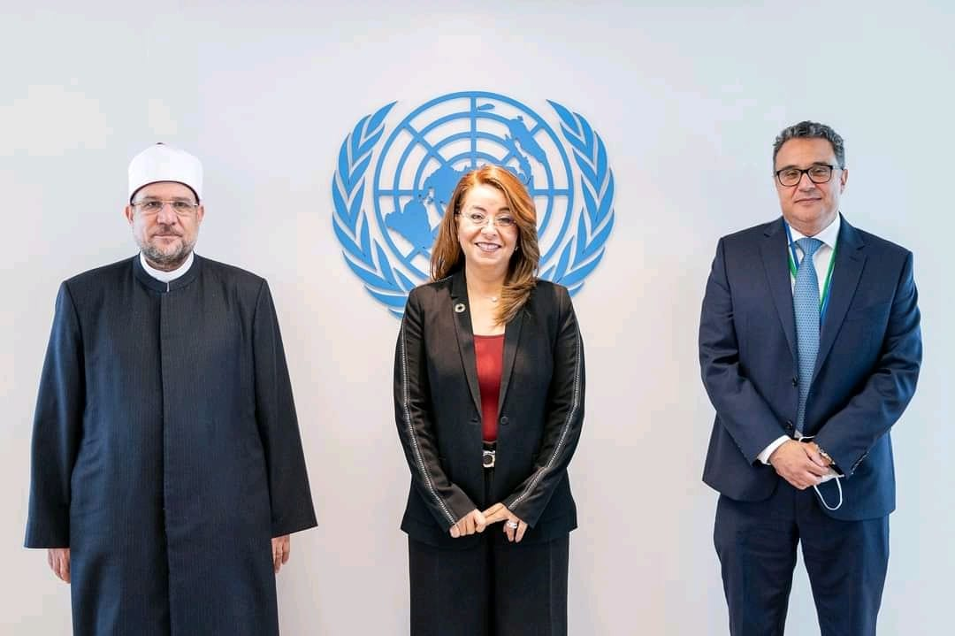 مراسم تسليم النسخة المُهداة من مصر إلى المقر الأممي