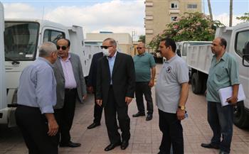 محافظ-كفر-الشيخ-يتفقد-أول-دفعة-من-سيارات-نقل-القمامة-ويوجه-بتوزيعها -صور-