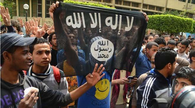 قضية اليوم يكتبها : أحمـد البـرى .... الإخوان يرفعون علم داعش !