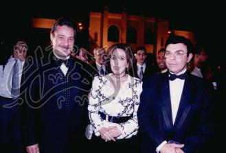 فاروق الفيشاوى و لبنى عبدالعزيز فى احدى المهرجانات .