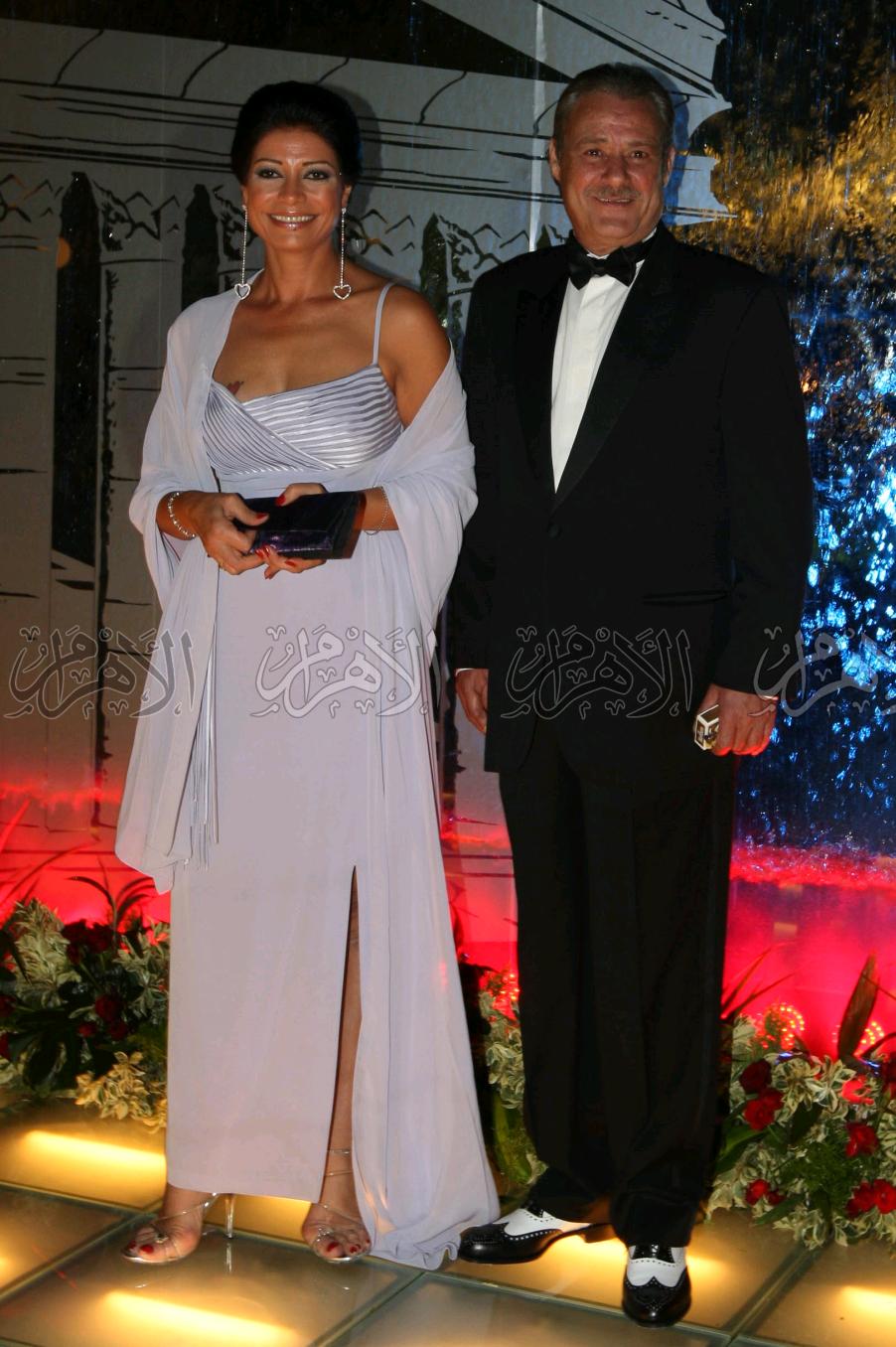 فاروق الفيشاوى مع سوسن بدر فى مهرجان دمشق السينمائى .